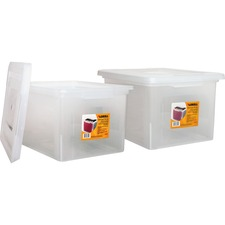 LLR68925BD - Lorell Letter/Legal Plastic File Box
