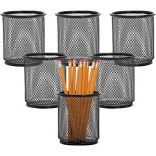 LLR 84149BX Lorell Black Mesh Pencil Cup Holder LLR84149BX