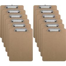 SPR 20894BX Sparco Flat Clip Hardboard Clipboard SPR20894BX
