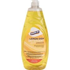 Genuine Joe Pot and Pan Detergent - Concentrate Liquid - 38 fl oz (1.2 quart) - Lemon Scent - Yellow