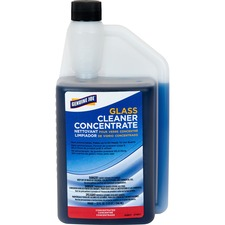 Genuine Joe Non-Ammoniated Glass Cleaner - Concentrate Liquid - 32 fl oz (1 quart) - Blue