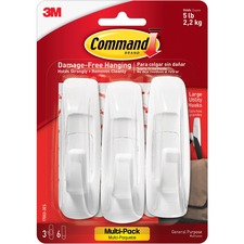 MMM 170033ES 3M Command Large Hooks Value Pack MMM170033ES