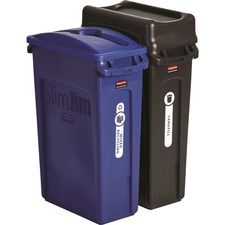 RCP 1998896 Rubbermaid Comm. Slim Jim 2-cntainr Recycling Set RCP1998896