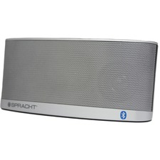 Spracht Blunote2.0 2.0 Portable Bluetooth Speaker System - Silver - Bluetooth