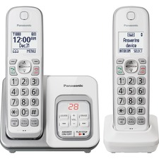 PAN KXTGD532W Panasonic Cordless Phone With 2 Handsets PANKXTGD532W