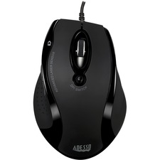 Adesso iMouse G2 - Ergonomic Optical Mouse - Optical - Cable - Black - USB - 2400 dpi - Scroll Wheel - 6 Button(s) - Right-handed Only