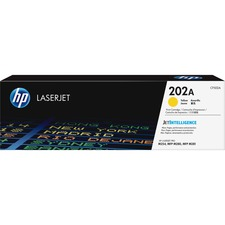 HP 202A (CF502A) Toner Cartridge - Yellow - Laser - Standard Yield - 1300 Pages