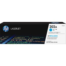 HP 202A (CF501A) Toner Cartridge - Cyan - Laser - Standard Yield - 1300 Pages