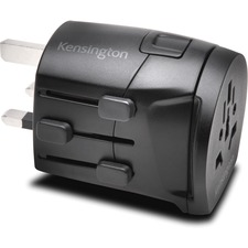 Kensington International Travel Adapter - Grounded (3-Prong) - 3 Prong Male - 120 V AC, 230 V AC