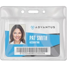 Advantus - Horizontal - Vinyl - 50 / Pack - Clear