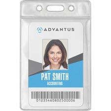 AVT75684 - Advantus Vinyl ID Badge Holders