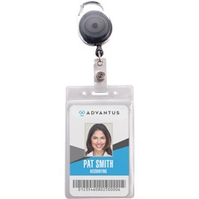 AVT 91129 Advantus Badge Reel Holder Combo Pack AVT91129
