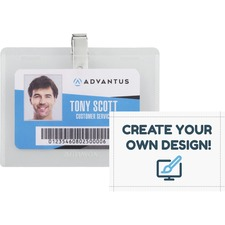 AVT 97027 Advantus DIY Clip-style Name Badge Kit AVT97027