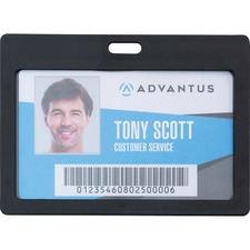AVT 97065 Advantus Horizontal Rigid ID Badge Holder AVT97065