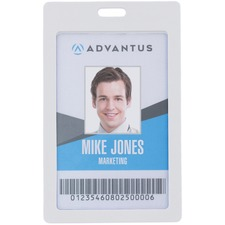 AVT 97066 Advantus Vertical Rigid ID Badge Holder AVT97066