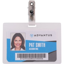 AVT97101 - Advantus Strap Clip Self-laminating Badge Holders