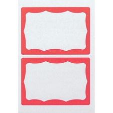 AVT 97189 Advantus Color Border Adhesive Name Badges AVT97189