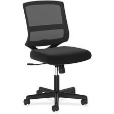 HON ValuTask Mid-Back Mesh Task Chair - Low Back - 5-star Base - Black - 1 Each