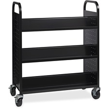 LLR99931 - Lorell Double-sided Book Cart