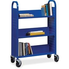 LLR99934 - Lorell Single-sided Steel Book Cart