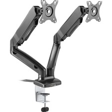 "Lorell Active Office Mounting Arm for Monitor - Black - 27"" Screen Support - 28 lb Load Capacity"