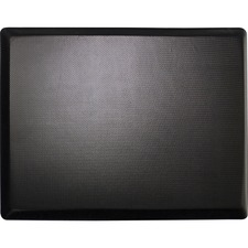 "Lorell Energizing Sit/Stand Mat - Desk Protection - 20"" Length x 30"" Width x 0.75"" Thickness - Rectangle - Memory Foam - Black"