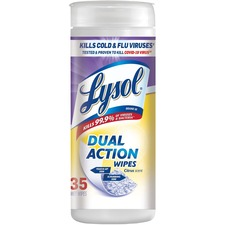 RAC 81143 Reckitt Benckiser Lysol Dual Action Citrus Wipes RAC81143