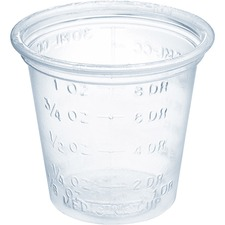 SCC P101M Solo Cup Small Clear Medical/Dental Cups SCCP101M