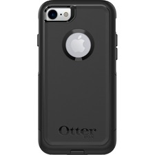 OtterBox Commuter Case - For Apple iPhone 6, iPhone 6s, iPhone 7, iPhone 8 Smartphone - Black - Damage Resistant, Shock Resistant, Impact Absorbing, Bump Resistant, Scratch Resistant - Polycarbonate, Silicone - 1