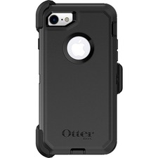 OtterBox Defender Carrying Case (Holster) Apple iPhone 8, iPhone 7 Smartphone - Black - Wear Resistant Interior, Drop Resistant Interior, Dust Resistant Port, Dirt Resistant Port, Bump Resistant Interior, Tear Resistant Interior, Impact Absorbing Interior, Lint Resistant Port, Scrape Resistant Screen Protector, Scratch Resistant Screen Protector - Polycarbonate Holster, Synthetic Rubber Cover, Polycarbonate - Belt Clip