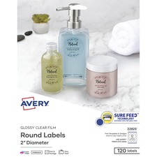 AVE 4222 Avery Glossy Clear Round Labels AVE4222