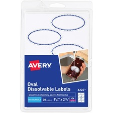 AVE 4226 Avery Oval Dissolvable Labels AVE4226