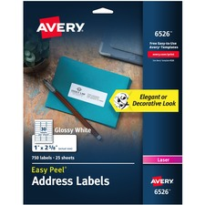 AVE6526 - Avery® Easy Peel High Gloss White Mailing Labels