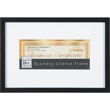 "DAX N16808BT Burns Grp. 8-1/2""x4"" Business License Frame DAXN16808BT"