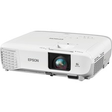 Epson PowerLite W39 LCD Projector - 16:10 - 1280 x 800 - Front, Rear, Ceiling - 6000 Hour Normal Mode - 12000 Hour Economy Mode - WXGA - 3500 lm - HDMI - USB - VGA In - Network (RJ-45) - 2 Year Warranty