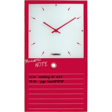 LLR 19209 Lorell Memo Board Glass Clock LLR19209