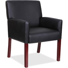 LLR20027 - Lorell Full-sided Arms Leather Guest Chair