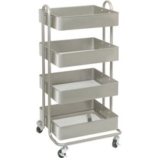 LLR 45652 Lorell Storage Basket Cart LLR45652