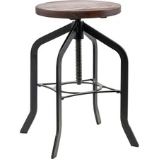 LLR 59490 Lorell Wood Seat Industrial Swivel Stool LLR59490