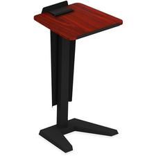 "Lorell Lectern - Mahogany, Laminated Top - U-shaped Base - 45"" Height x 23"" Width x 20"" Depth - Assembly Required"