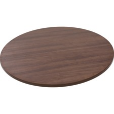 "Lorell Woodstain Hospitality Round Tabletop - Walnut Round Top - 1"" Table Top Thickness x 35.5"" Table Top Diameter - Assembly Required"