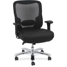LLR62618 - Lorell Big & Tall Mid-back Leather Task Chair