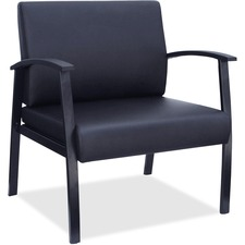 LLR68557 - Lorell Big & Tall Black Leather Guest Chair