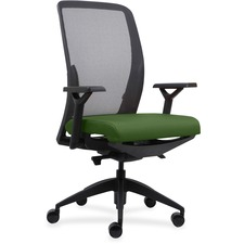 LLR83104A201 - Lorell Executive Mesh Back/Fabric Seat Task Chair