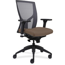 LLR83109A200 - Lorell High-Back Mesh Chairs with Fabric Seat