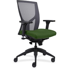 LLR83109A201 - Lorell High-Back Mesh Chairs with Fabric Seat