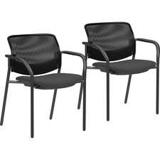 LLR83112 - Lorell Guest Chairs with Mesh Back