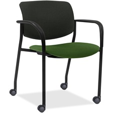 LLR83115A201 - Lorell Stack Chairs with Plastic Back & Fabric Seat