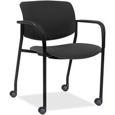 LLR83115A202 - Lorell Stack Chairs with Plastic Back & Fabric Seat