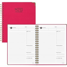 "Mead Harmony Notebook - Twin Wirebound - 9.4"" x 7.9"" - Pink Cover - 1Each"